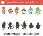 christmas shadow matching... | Shutterstock .eps vector #1830390335