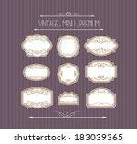 ornate calligraphic frames   Shutterstock .eps vector #183039365