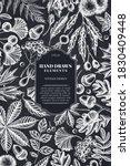 card design with chalk fern ...   Shutterstock .eps vector #1830409448