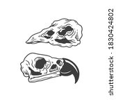 the skull of a bird. can be... | Shutterstock .eps vector #1830424802