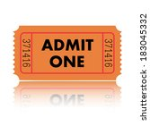 illustration of a ticket...   Shutterstock .eps vector #183045332