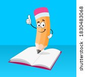 funny pencil show that...   Shutterstock .eps vector #1830483068