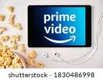 Amazon Prime Video Logo On The...
