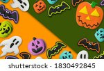 halloween concept pumpkin jack... | Shutterstock . vector #1830492845