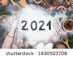 Happy new year 2021 written on...