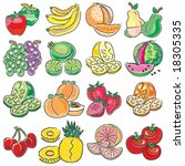 fruit group | Shutterstock .eps vector #18305335