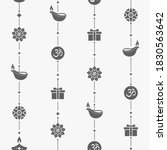 diwali seamless pattern with... | Shutterstock .eps vector #1830563642