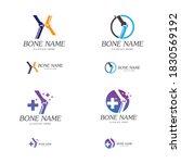 bone plus logo. healthy bone... | Shutterstock .eps vector #1830569192