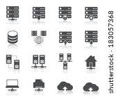 online internet hosting... | Shutterstock .eps vector #183057368