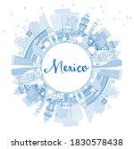 Outline Mexico City Skyline...