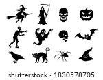 Halloween Stickers. Black...