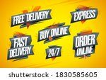 free and fast delivery  express ...   Shutterstock .eps vector #1830585605