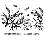 spring  summer background. ... | Shutterstock .eps vector #183058892