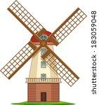 wind mill | Shutterstock .eps vector #183059048
