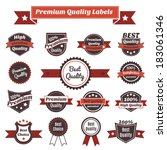 premium exclusive quality and... | Shutterstock .eps vector #183061346