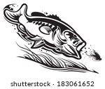 largemouth bass | Shutterstock .eps vector #183061652