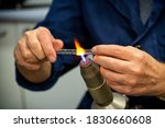 Glass Blower Forming A...