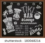 aloha,bar,bar menu,blackboard,caribbean,chalkboard,chalks,cocktail,cocktail menu,coconut,fish,hawaii,hawaiian bar,hawaiian gods,hawaiian lei