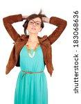 beautiful young woman posing | Shutterstock . vector #183068636