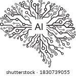 vector artificial intelligence  ... | Shutterstock .eps vector #1830739055