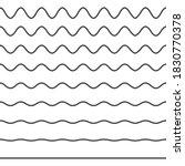 set of wavy horizontal lines.... | Shutterstock . vector #1830770378
