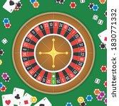 casino night background. chips  ...   Shutterstock . vector #1830771332