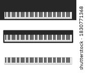 piano  organ or synthesizer key ...   Shutterstock . vector #1830771368