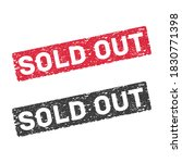 sold out red and black grunge...   Shutterstock . vector #1830771398