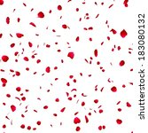 Stock photo texture from petals of roses on the isolated background 183080132