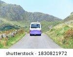 Purple Campervan In Remote...