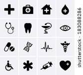 medical icons | Shutterstock .eps vector #183088286