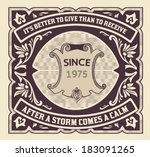 premium quality card. baroque... | Shutterstock .eps vector #183091265