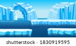 arctic landscape with icebergs  ... | Shutterstock .eps vector #1830919595