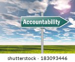 signpost with accountability... | Shutterstock . vector #183093446