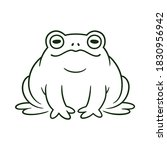 cartoon toad  black and white... | Shutterstock .eps vector #1830956942