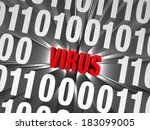 "a small  red ""virus"" is buried... 