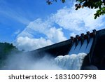 Releasing Water Of Dam In...