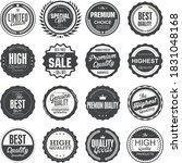 retro badges business promot... | Shutterstock .eps vector #1831048168
