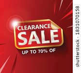 clearance sale up to 70 ... | Shutterstock .eps vector #1831070158