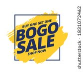 buy one get one free bogo sale... | Shutterstock .eps vector #1831072462