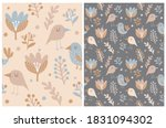 funny floral seamless vector... | Shutterstock .eps vector #1831094302