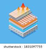 layered isometric of floor... | Shutterstock .eps vector #1831097755