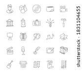 art hand drawn linear doodles...