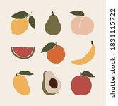 abstract fruit shapes art print ... | Shutterstock .eps vector #1831115722