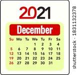 vector art for 2021 calendar    ... | Shutterstock .eps vector #1831132378
