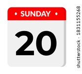sunday 20 calendar icon vector... | Shutterstock .eps vector #1831155268