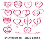 set of symbol hearts | Shutterstock .eps vector #183115556