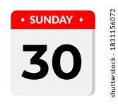 sunday 30 calendar icon... | Shutterstock .eps vector #1831156072
