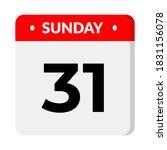sunday 31 calendar vector... | Shutterstock .eps vector #1831156078