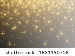 shine. light effect  golden... | Shutterstock .eps vector #1831190758
